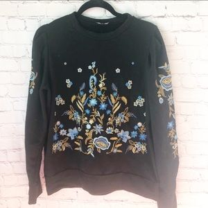 Anthropologie Drew Embroidered Sweater M